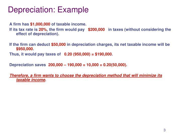 Depreciation: Example