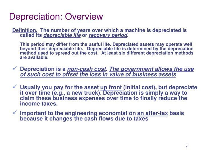 Depreciation: Overview