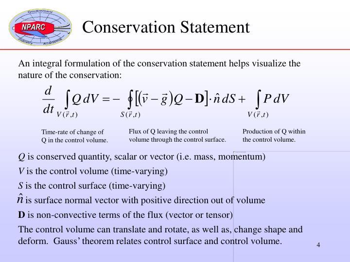 Conservation Statement