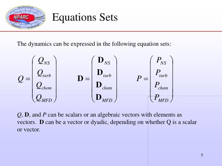 Equations Sets