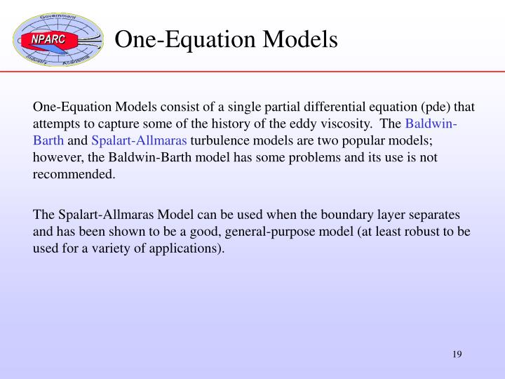 One-Equation Models