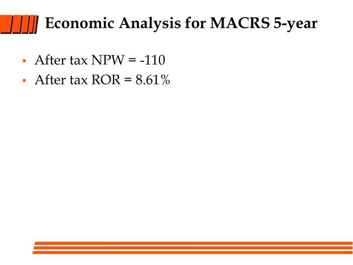 Economic Analysis for MACRS 5-year