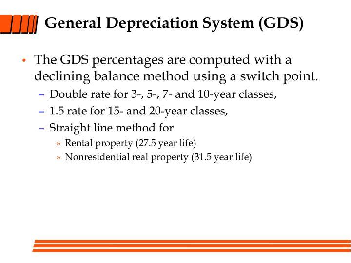 General Depreciation System (GDS)