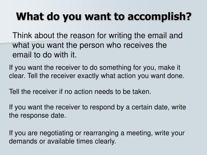 What do you want to accomplish?