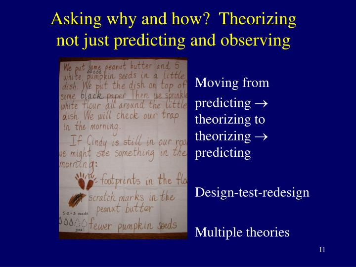 Asking why and how?  Theorizing