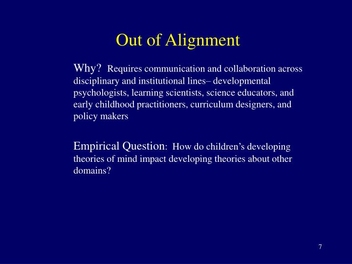 Out of Alignment