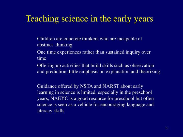 Teaching science in the early years