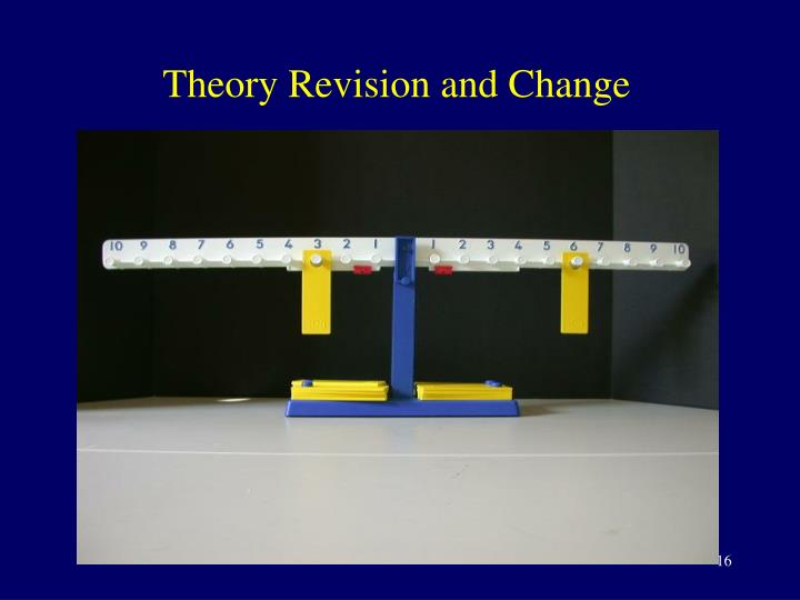 Theory Revision and Change