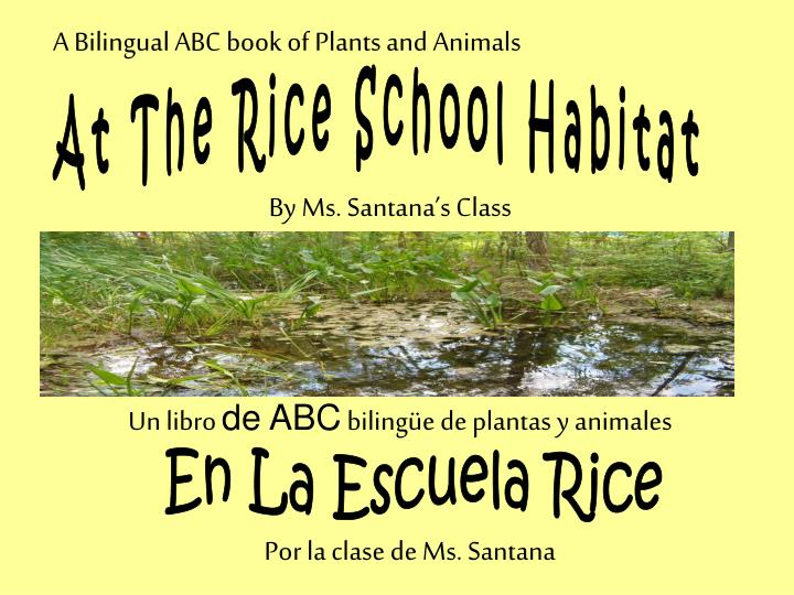 A Bilingual ABC book of Plants and Animals