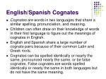 english spanish cognates