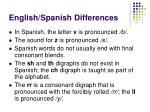 english spanish differences1