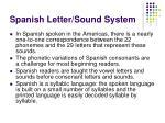 spanish letter sound system