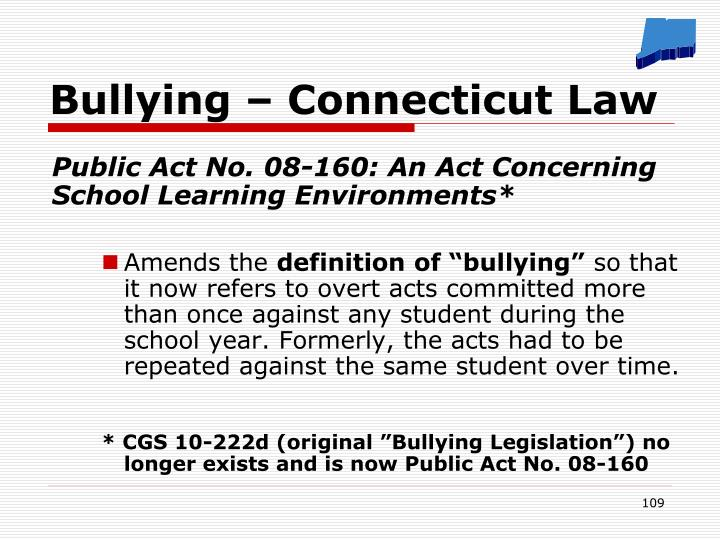 Bullying – Connecticut Law