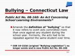 bullying connecticut law
