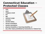 connecticut education protected classes