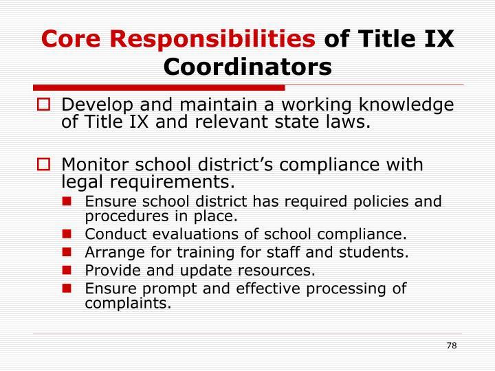 Core Responsibilities