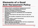 elements of a good anti harassment policy