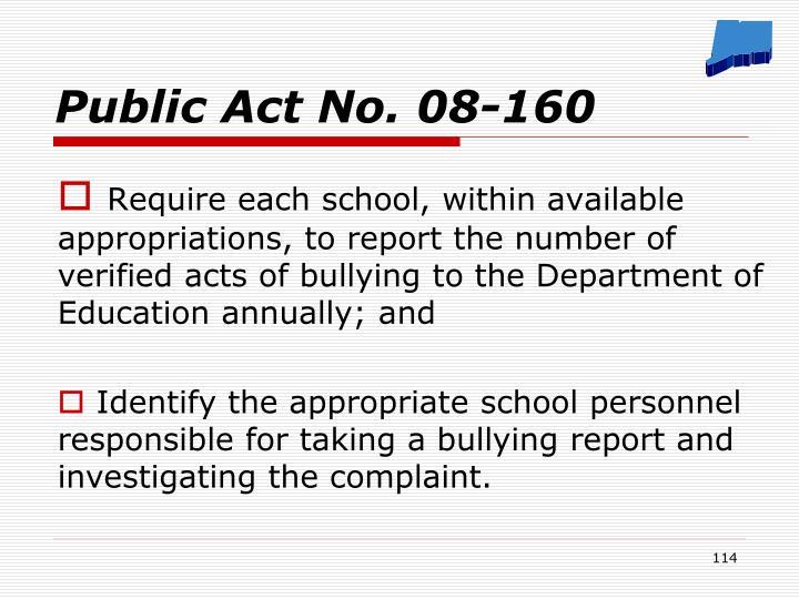 Public Act No. 08-160