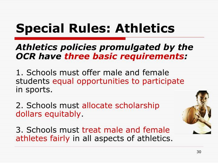 Special Rules: Athletics
