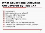 what educational activities are covered by title ix