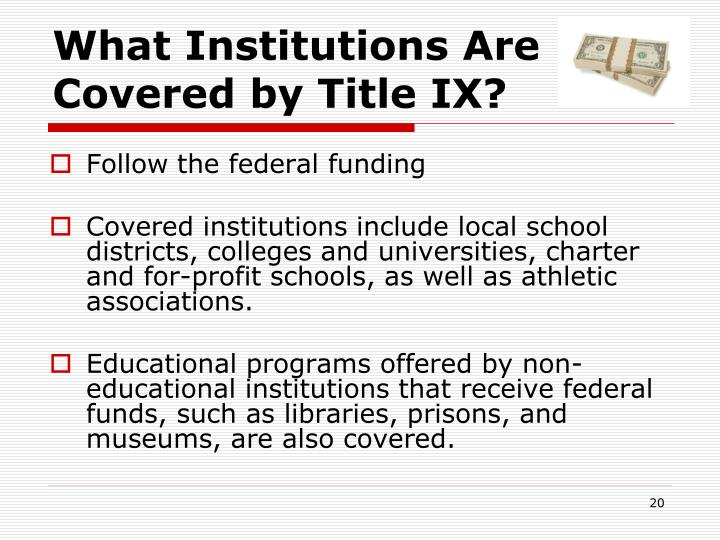 What Institutions Are Covered by Title IX?