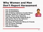 why women and men don t report harassment