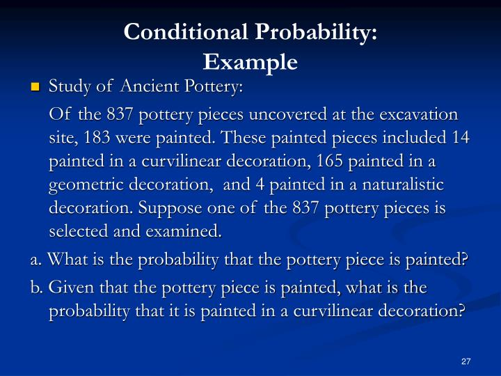 Conditional Probability: