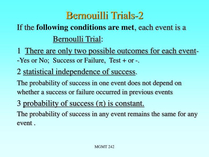 Bernouilli Trials-2