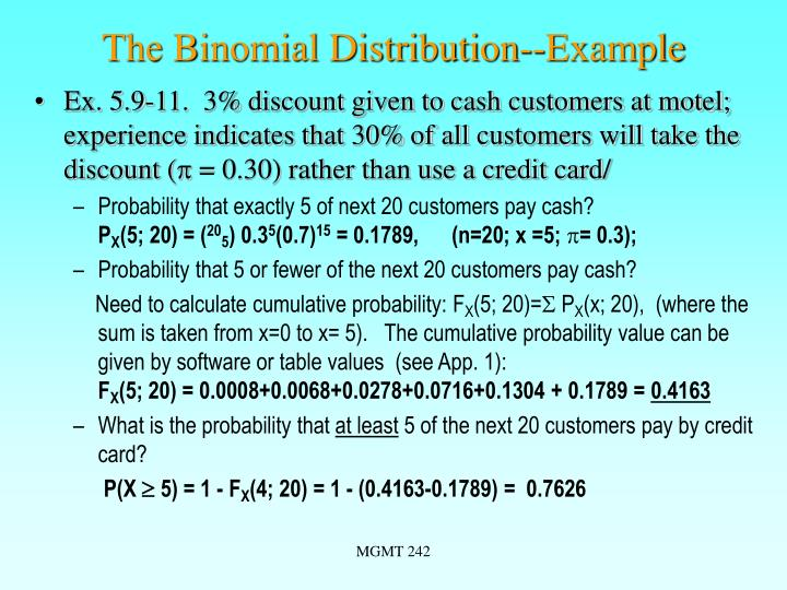 The Binomial Distribution--Example