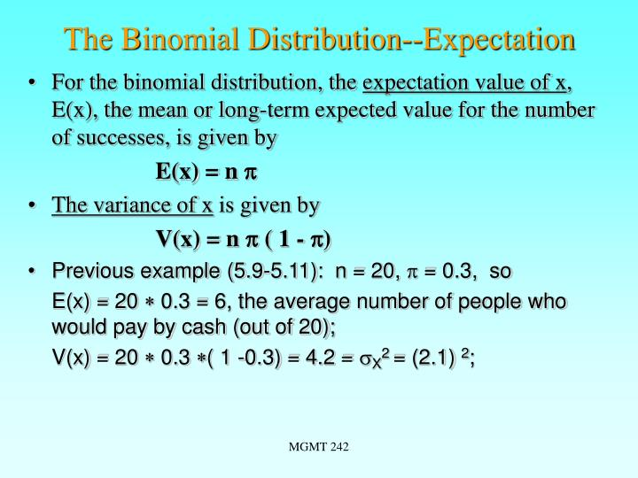 The Binomial Distribution--Expectation