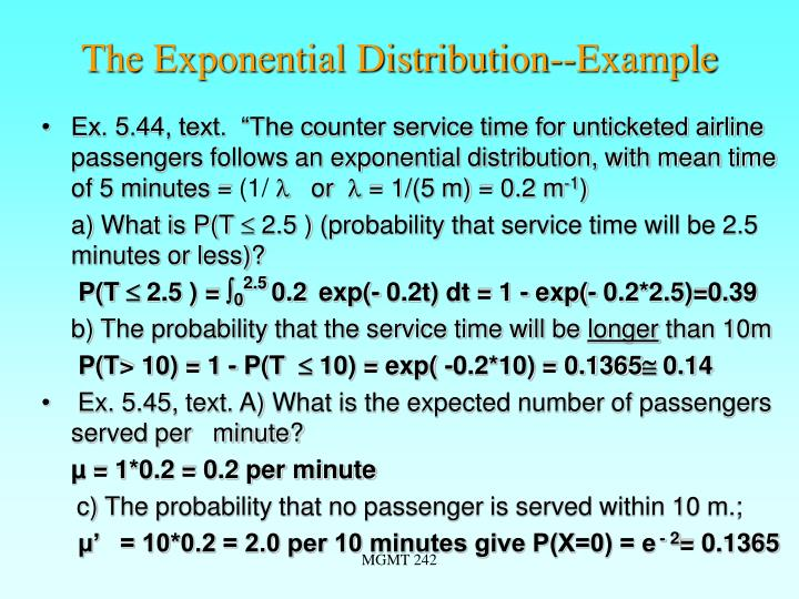 The Exponential Distribution--Example