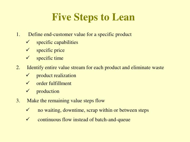 five steps to lean