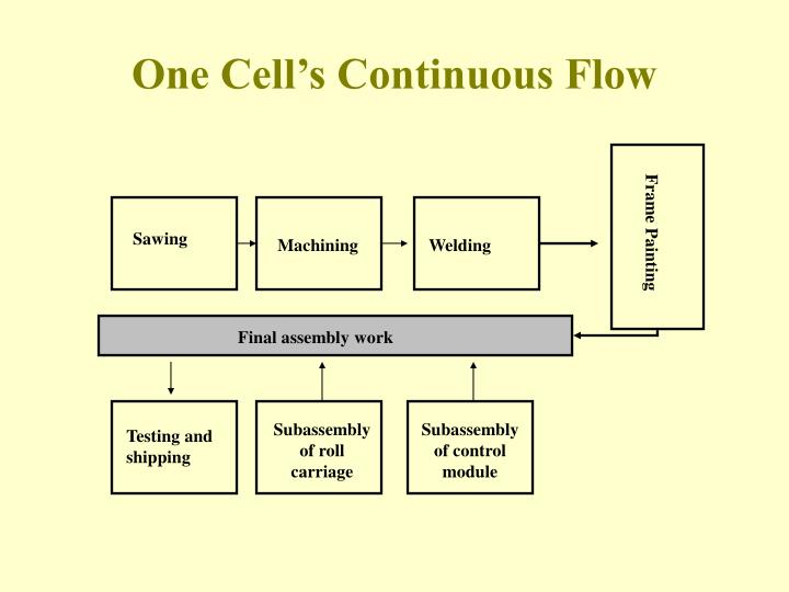 One Cell's Continuous Flow
