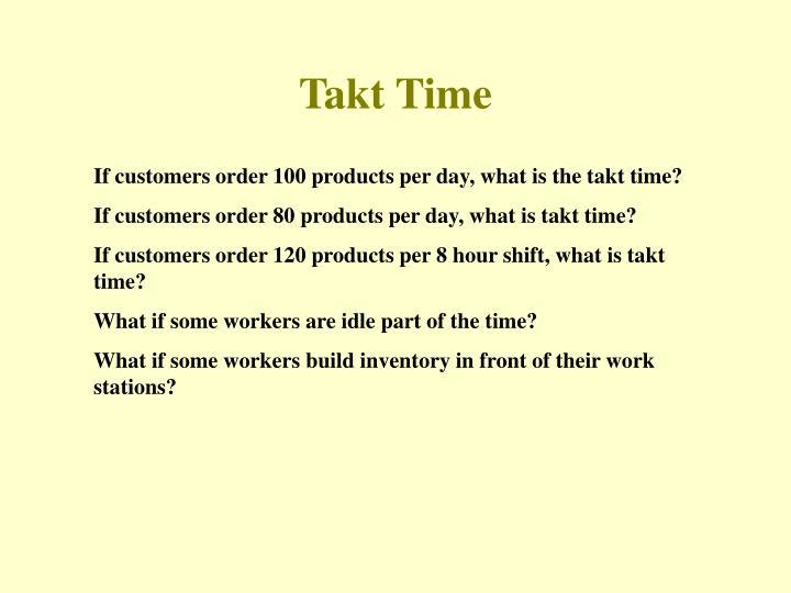 Takt Time