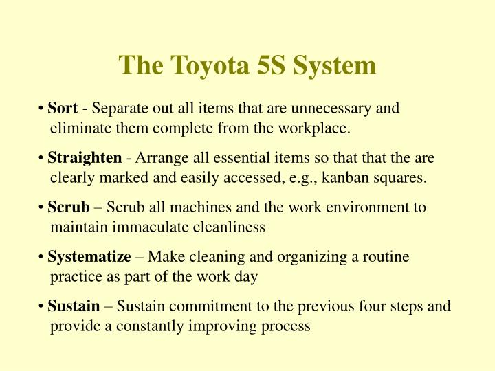 The Toyota 5S System