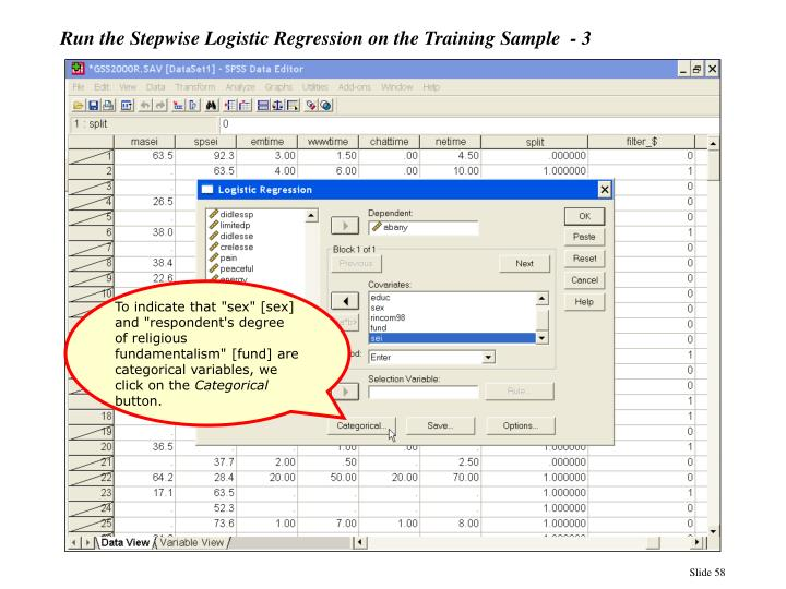 Run the Stepwise Logistic Regression on the Training Sample  - 3