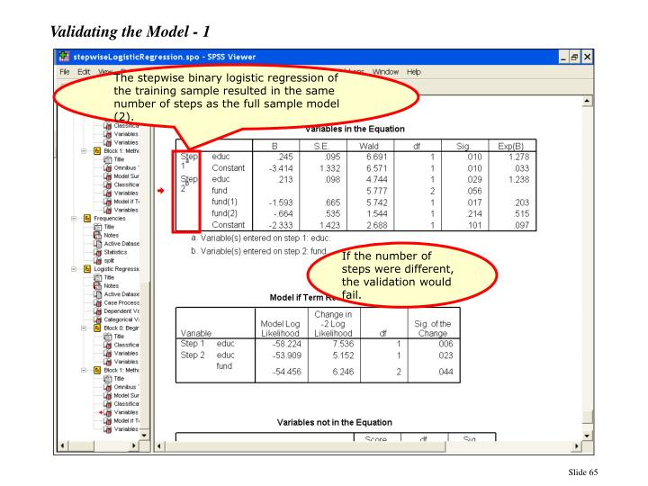 Validating the Model - 1