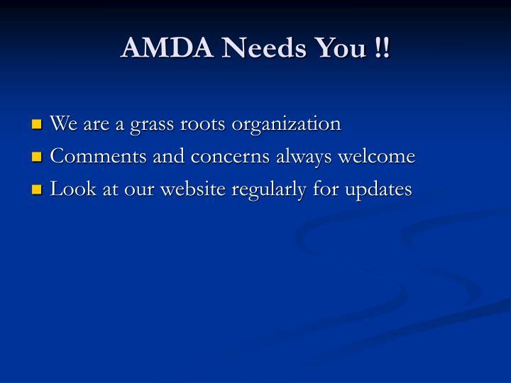 AMDA Needs You !!