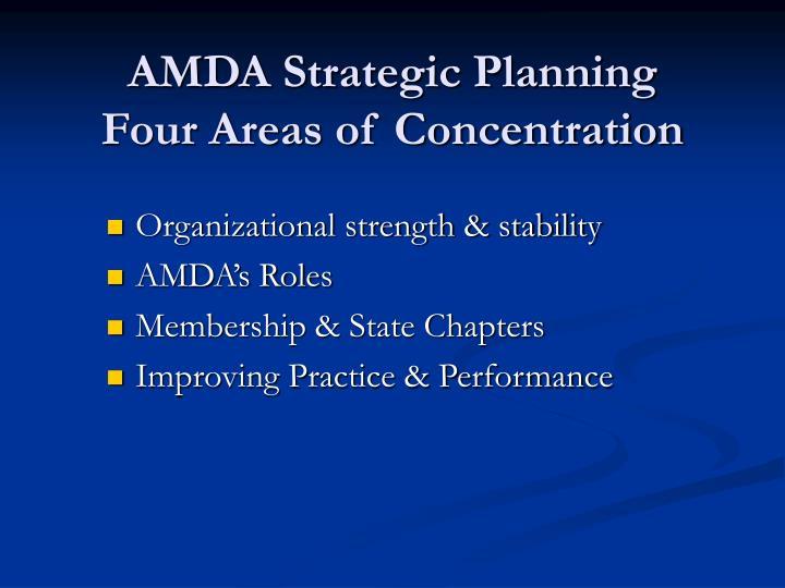 AMDA Strategic Planning