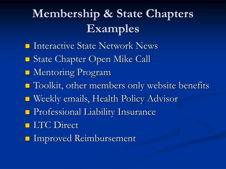 Membership & State Chapters