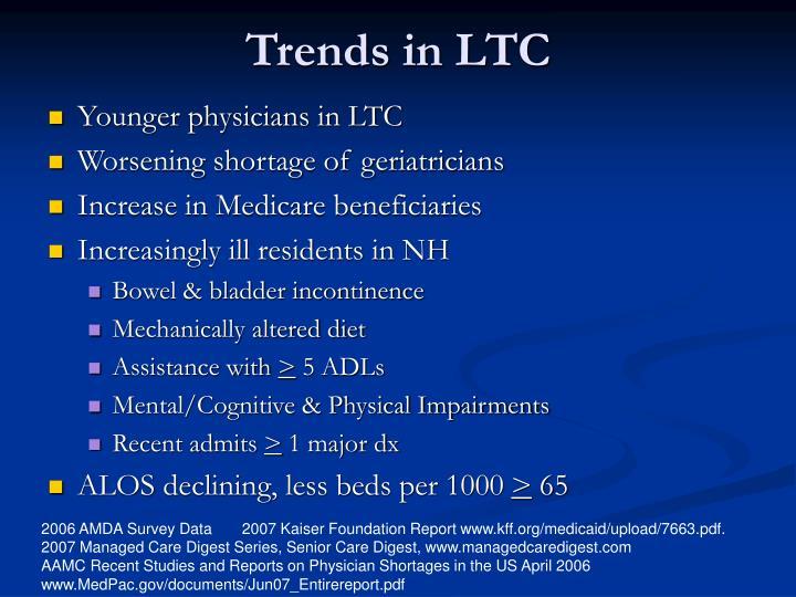 Trends in LTC