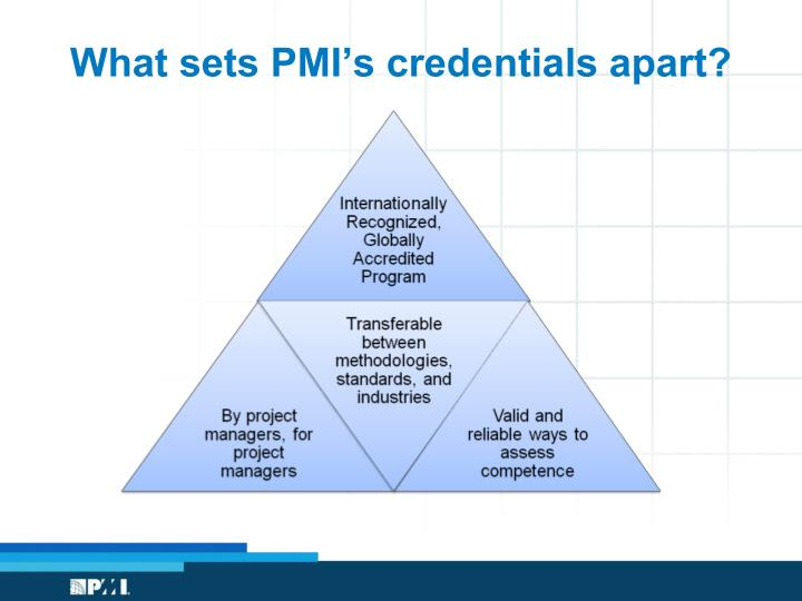What sets PMI's credentials apart?