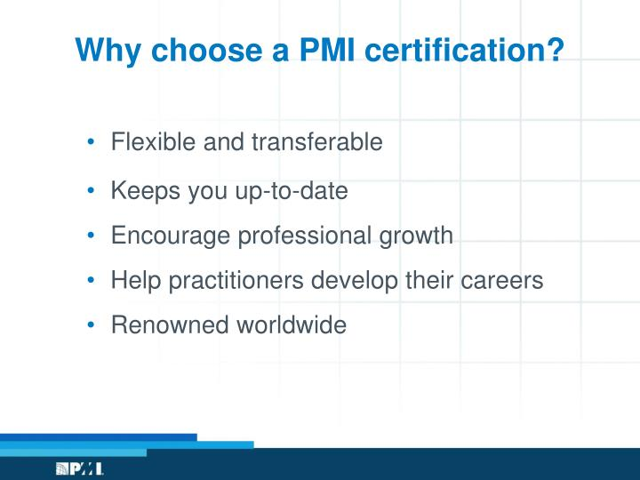 Why choose a PMI certification?