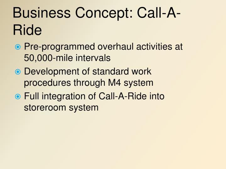 Business Concept: Call-A-Ride