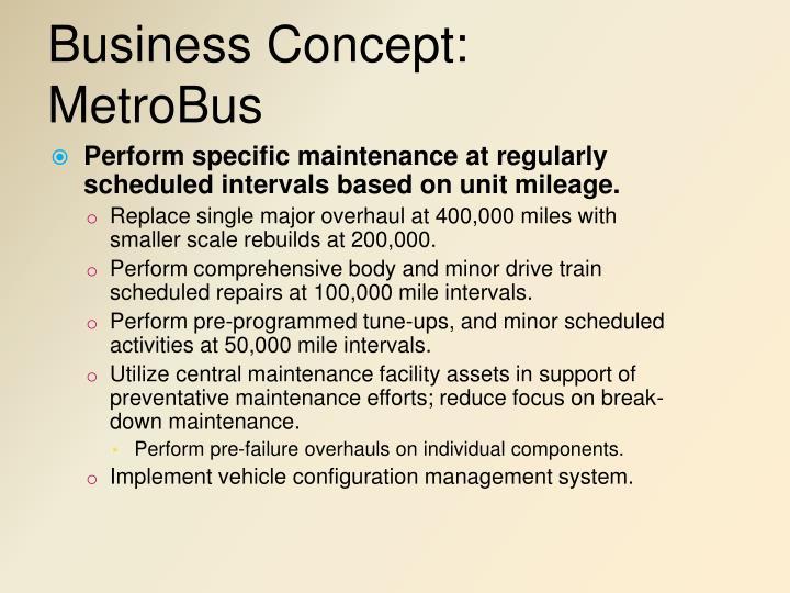 Business Concept: MetroBus