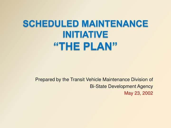 Prepared by the Transit Vehicle Maintenance Division of