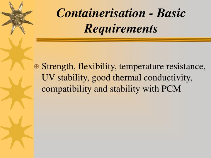 Containerisation - Basic Requirements