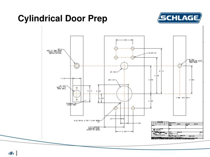 Cylindrical Door Prep