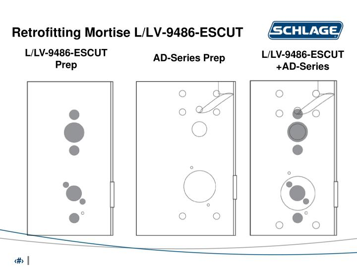 Retrofitting Mortise L/LV-9486-ESCUT