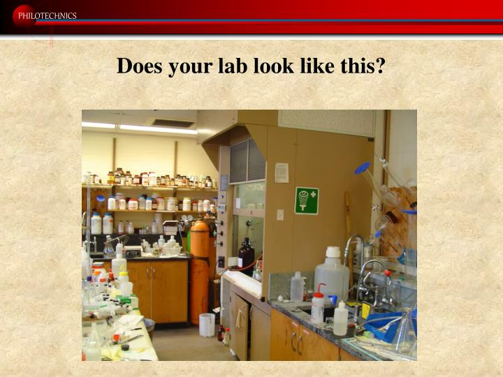 Does your lab look like this?